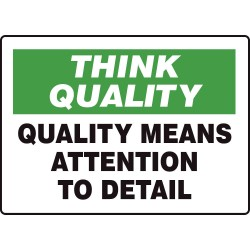 Accuform Signs - MQTL769VA - Quality Control Sign, 7 x 10In, ENG, Text