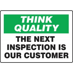 Accuform Signs - MQTL775VS - Quality Control Sign, 10 x 14In, ENG, Text