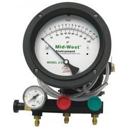 Mid-West Instrument - 845-5 - Backflow Preventer Test Kit, 5 Valve, Includes: Analog Test Gauge, Pressure Gauge, (3) 5 ft. Hoses,