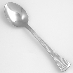 Walco - 1807 - 7-1/8 Stainless Steel Dessert Spoon with Bosa Nova Pattern; PK36