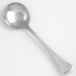 Walco - 1812 - 6 Stainless Steel Bouillon Spoon with Bosa Nova Pattern; PK36