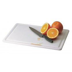 San Jamar - CB152012GVWHGR - 15 x 20 Co-Polymer Cutting Board, White