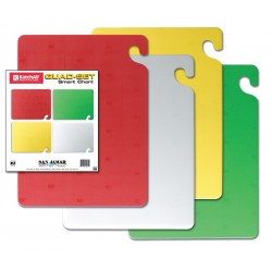 San Jamar - CB1520QSGR - 15 x 20 Co-Polymer Four-Piece Cutting Board Set, Red, Yellow, Green, White