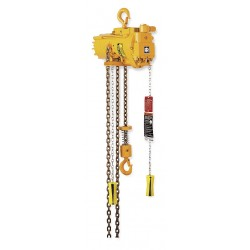 Ingersoll-Rand - ML250K-2C10-C6 - Air Chain Hoist, 550 lb. Cap., 10 ft. Lift