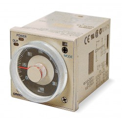 Omron - H3CR-A8 AC24-48/DC12-48 - Analog Timer, Multifunction, H3CR-A Series, On-Delay, 14 Ranges, 0.05 s, 300 h, 1 Changeover Relay