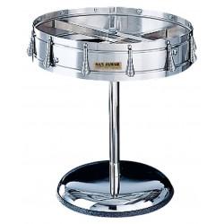 San Jamar - CK6016P - 14-1/4 H x 18-1/2 Dia Stainless, Chrome Plated Steel Pedestal Mounted Check Wheel