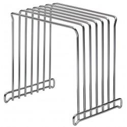 San Jamar - KLRSTGR - 10-5/8 x 8-3/4 x 11 Stainless Steel Cutting Board Rack