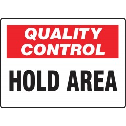 Accuform Signs - MQTL709VS - Quality Control Sign, 7 x 10In, ENG, Text