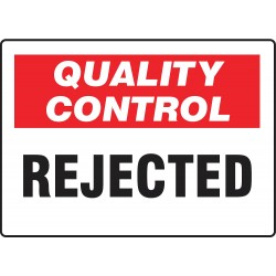 Accuform Signs - MQTL713VS - Quality Control Sign, 7 x 10In, ENG, Text