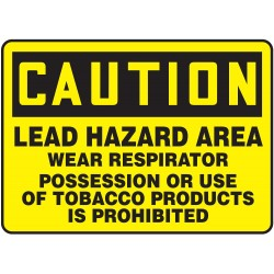 Accuform Signs - MCAW607VA - Caution Sign, 10 x 14In, BK/YEL, AL, ENG