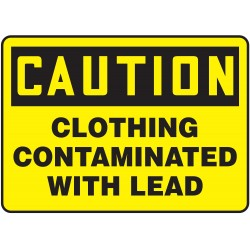 Accuform Signs - MCAW605VP - Chemical, Gas or Hazardous Materials, Caution, Plastic, 10 x 14, Not Retroreflective