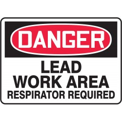 Accuform Signs - MCAW121VP - Danger Sign, 10 x 14In, R and BK/WHT, PLSTC