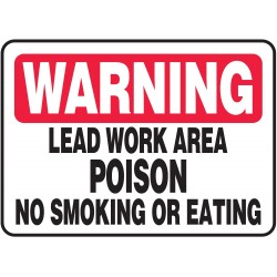 Accuform Signs - MCHL326VS - Warning No Smoking Sign, 10 x 14In, ENG