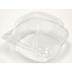 Pactiv - YCI8-1160 - 5-3/4 x 6 x 3 Polypropylene Carry-Out Food Container, Clear; PK500