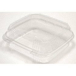 Pactiv - YCI8-1120 - 8-1/4 x 8-5/16 x 2-7/8 Polypropylene Carry-Out Food Container, Clear; PK200