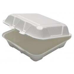 Earthchoice / Pactiv - YMCH09010001 - 9 x 9 x 3-1/2 Molded Fiber Carry-Out Food Container, White; PK150