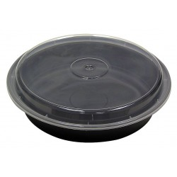 Pactiv - NC-948-B - 1-7/8 PET Plastic Carry-Out Food Container, Black/Clear; PK150