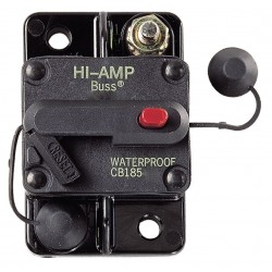 Cooper Bussmann - CB185-120 - CB185 Series Automotive Circuit Breaker, Plug In Mounting, 120 Amps, Blade Terminal Connection