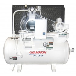 Champion Spark Plugs - CHSMOA14 - 1 Phase Horizontal Tank Mounted 1HP Electric Air Compressor, 30 gal., 100 psi