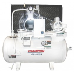 Champion Spark Plugs - CHSMOA15 - 1 Phase Horizontal Tank Mounted 1HP Electric Air Compressor, 30 gal., 100 psi