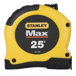 Stanley / Black & Decker - 33-279 - 25 ft. Steel SAE Tape Measure, Black/Yellow