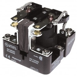 Telemecanique / Schneider Electric - 199BX-12 - 12VDC, 8-Pin Surface Open Power Relay; Electrical Connection: Screw