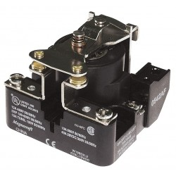 Telemecanique / Schneider Electric - 199DX-2 - 12VDC, 4-Pin Surface Open Power Relay; Electrical Connection: Screw