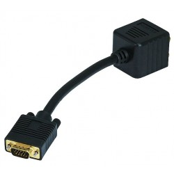 Other - 2679 - Computer Cable Splitter, VGA(HD15) Male/(2)VGA(HD15) Female(1 PC to 2 Monitors) Connector Type