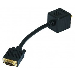 Other - 2517 - Computer Cable Splitter, VGA(HD15) Male/VGA(HD15) Female, DVI-A Female Connector Type