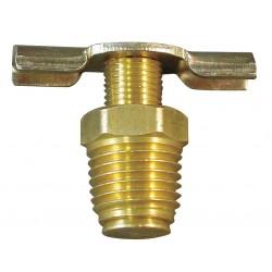 Anderson Metals - 6D910 - MNPT Drain Cock, 200 psi, 1H x 1/4 Pipe Size