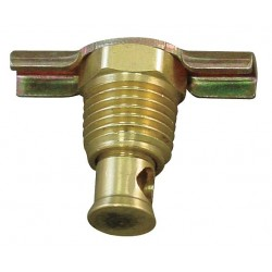 Anderson Metals - 6D911 - MNPT Drain Cock, 200 psi, 1-5/16H x 3/8 Pipe Size