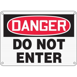 Accuform Signs - MADM139XP - Exit and Entrance, Danger, Plastic, 10 x 14, With Mounting Holes, Not Retroreflective