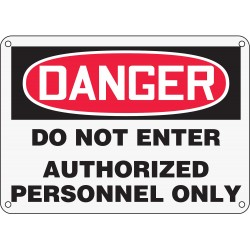 Accuform Signs - MADM141XP - Danger Sign, 10 x 14In, R and BK/WHT, ENG