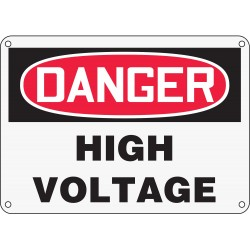 Accuform Signs - MELCD06XP - Sfty Sgn Danger High Voltage, Ea