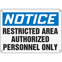 Accuform Signs - MAMDN26XP - Notice Sign, 10 x 14In, BL and BK/WHT, ENG