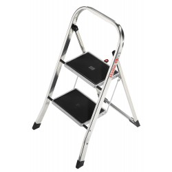 Hailo - 4392-801 - Aluminum Folding Step, 30 Overall Height, 330 lb. Load Capacity, Number of Steps: 2