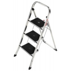 Hailo - 4393-801 - Aluminum Folding Step, 41 Overall Height, 330 lb. Load Capacity, Number of Steps: 3