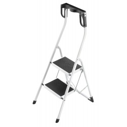 Hailo - 4342-001 - Steel Folding Step, 43 Overall Height, 330 lb. Load Capacity, Number of Steps: 2