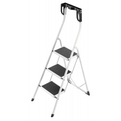 Hailo - 4343-001 - Steel Folding Step, 52 Overall Height, 330 lb. Load Capacity, Number of Steps: 3