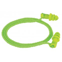 Moldex - 6455 - 27dB Reusable Flanged-Shape Ear Plugs&#x3b; Corded, Green, Universal