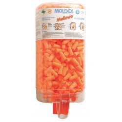 Moldex - 6847 - 30dB Disposable Tapered-Shape Ear Plugs with Dispenser&#x3b; Uncorded, Orange, Universal
