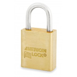 American Lock - ASL40N - Different-Keyed Padlock, Open Shackle Type, 1 Shackle Height, Brass