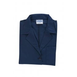 Landau Uniforms - 3155 BNP - Lab Coat, 2XL, Navy, 41-1/4 In. L