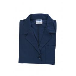 Landau Uniforms - 3155 BNP SIZE 48 - Lab Coat, 3XL, Navy, 41-3/4 In. L