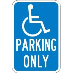 Lyle Signs - HC-CA01-12HA - Parking, No Header, Aluminum, 18 x 12, High Intensity Prismatic