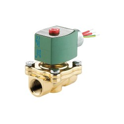 Red Hat - 8210B056 - 120VAC Brass Solenoid Valve, Normally Closed, 1-1/2 Pipe Size