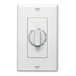 Broan-NuTone - 57W - Broan 57W Hard Wire Dimmer - Rotary Dimmer - Fan Control - 1 Controllable Device(s) - White