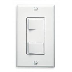 Broan-NuTone - 68W - Broan 68W Hard Wire Switch - Rocker Switch - Fan Control, Heater Control - 2 Controllable Device(s) - White
