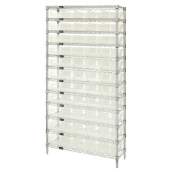 Quantum Storage Systems - WR12-104CL - 36 x 18 x 74 Bin Shelving with 5000 lb. Load Capacity