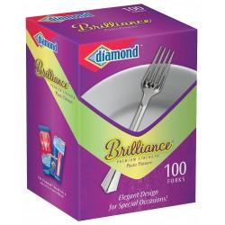 Diamond / Jarden - 41426 00984 - Polystyrene Disposable Fork, Silver; PK1000